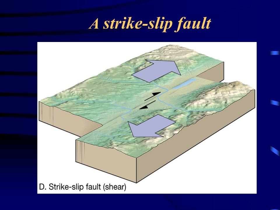 A strike-slip fault
