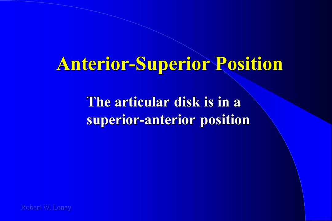 Anterior-Superior Position The articular disk is in a superior-anterior position