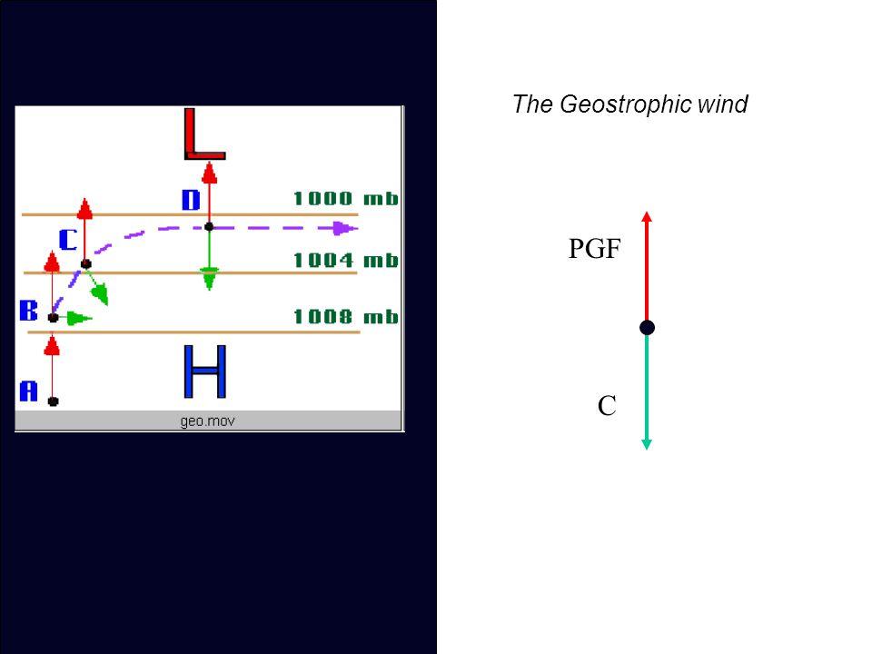 The Geostrophic wind PGF C