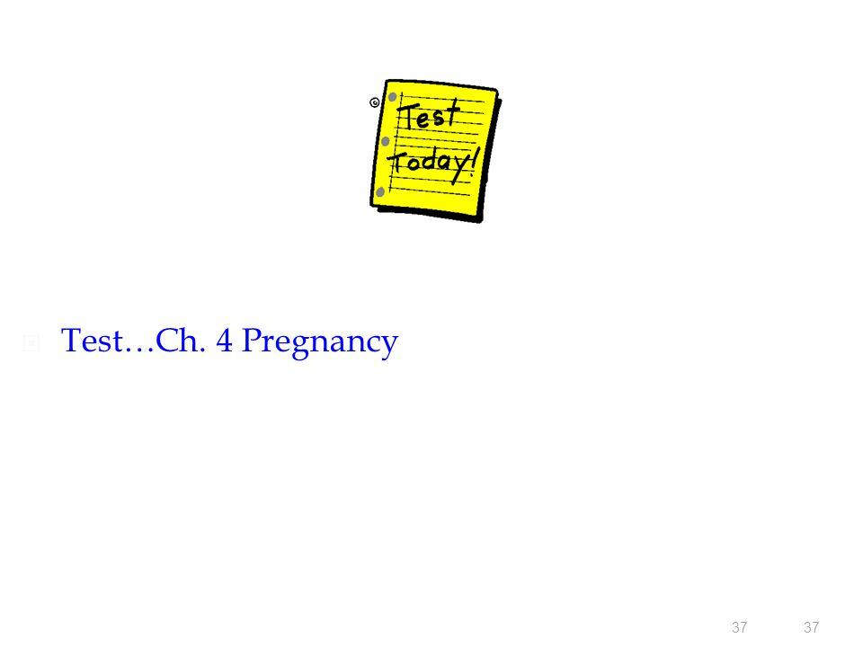 37  Test…Ch. 4 Pregnancy