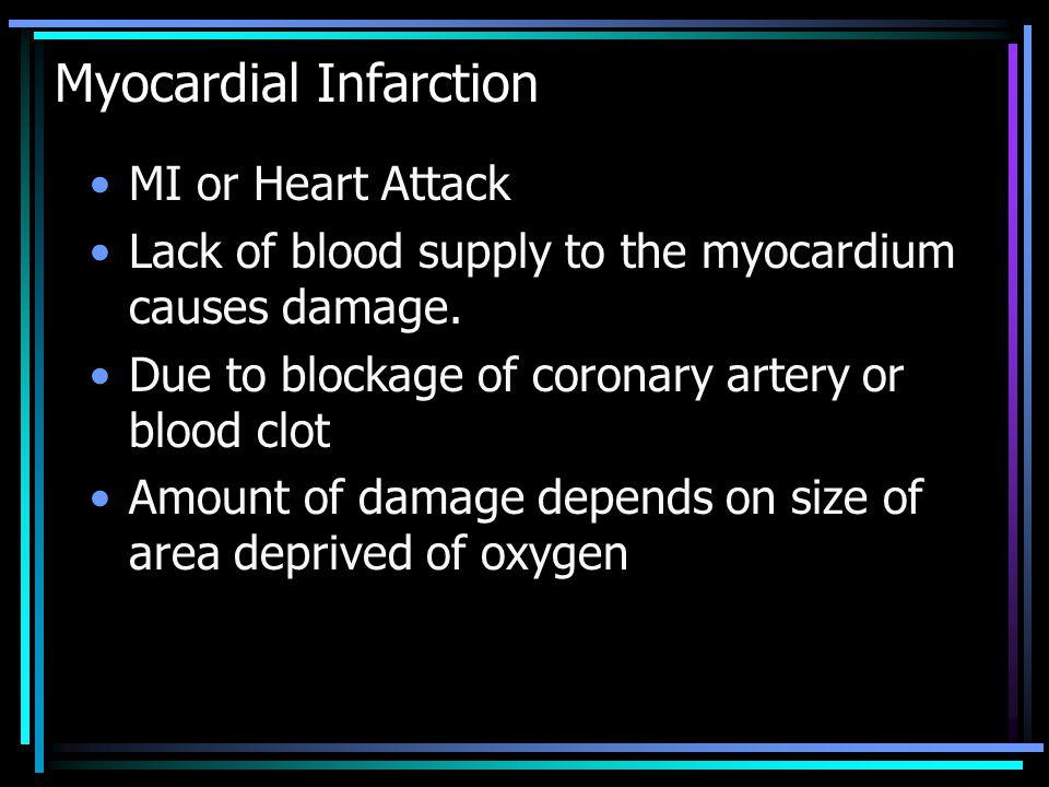Myocardial Infarction cont.