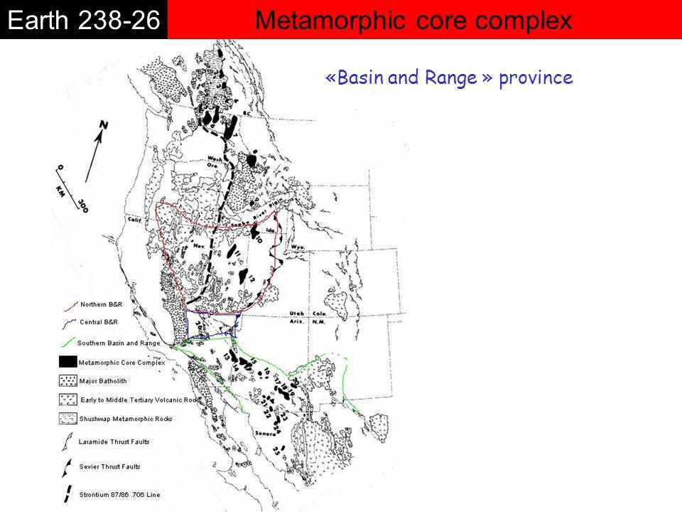 Metamorphic core complexEarth 238-26 «Basin and Range » province