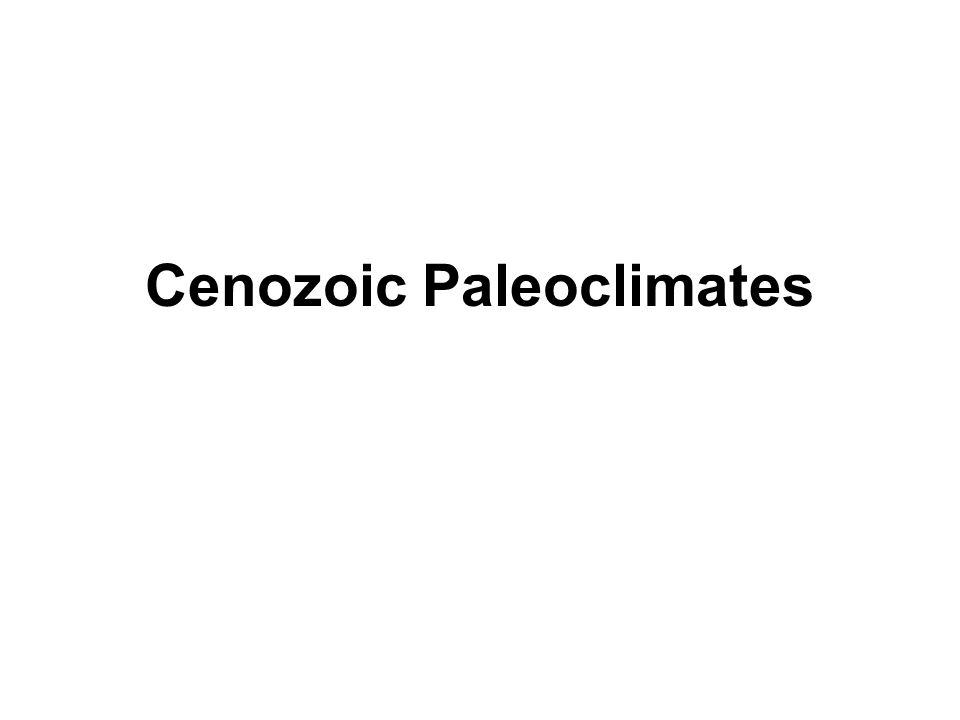Cenozoic Paleoclimates