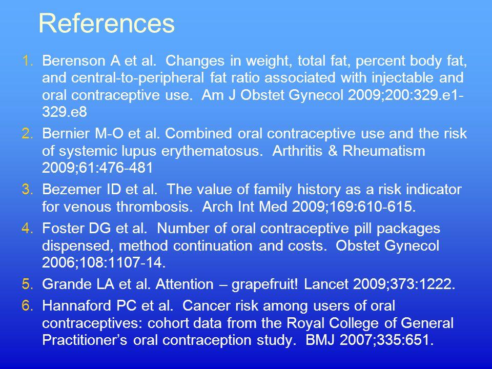 References 1.Berenson A et al.
