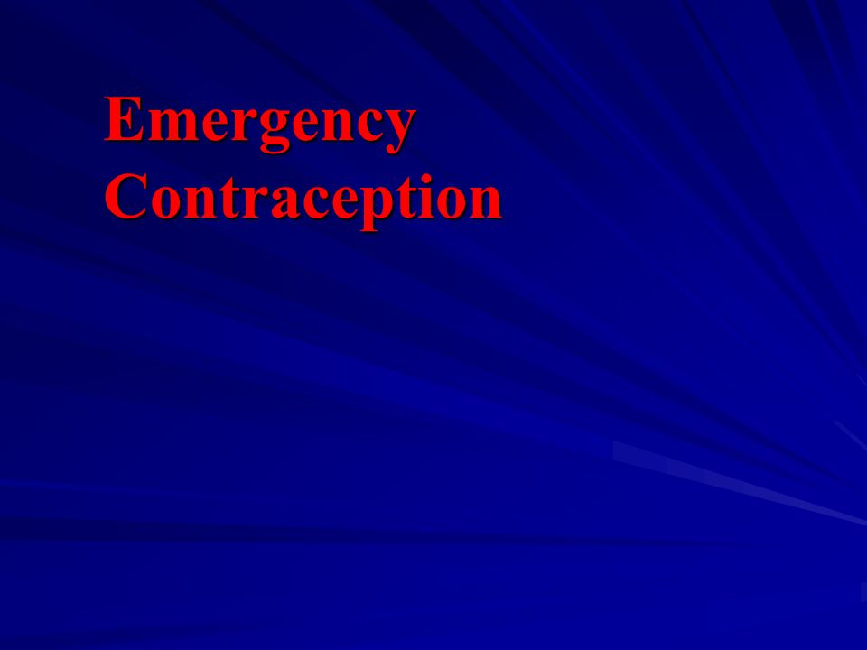 Emergency Contraception
