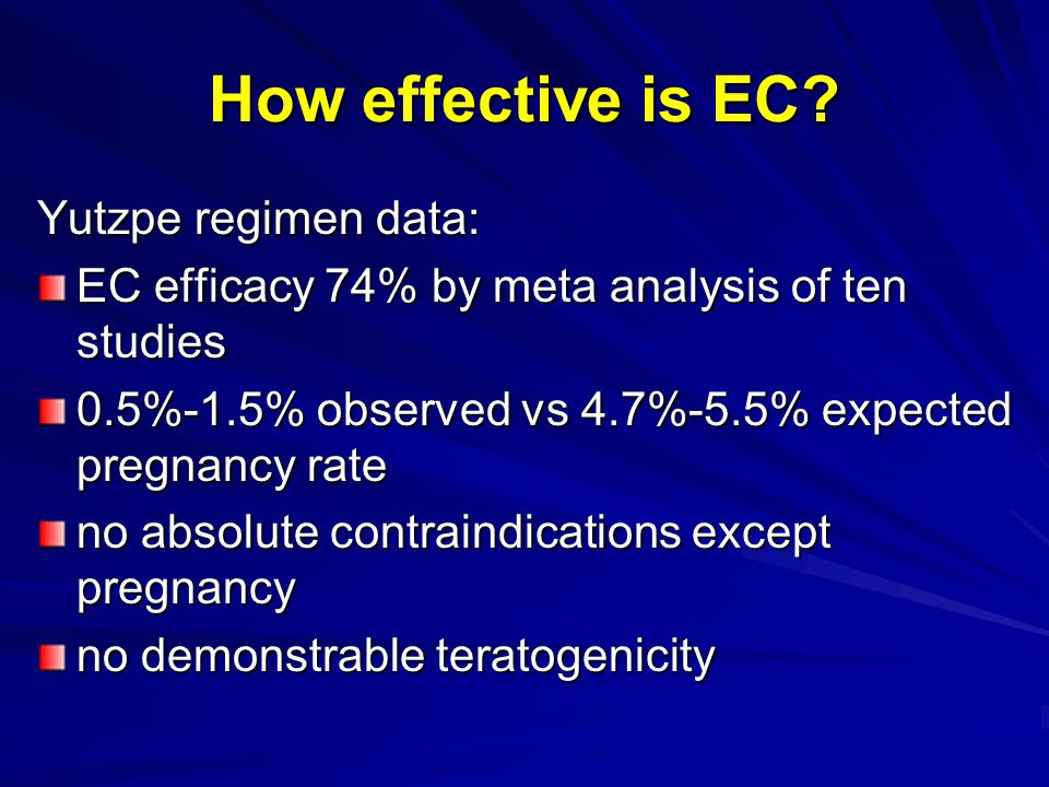 How effective is EC.
