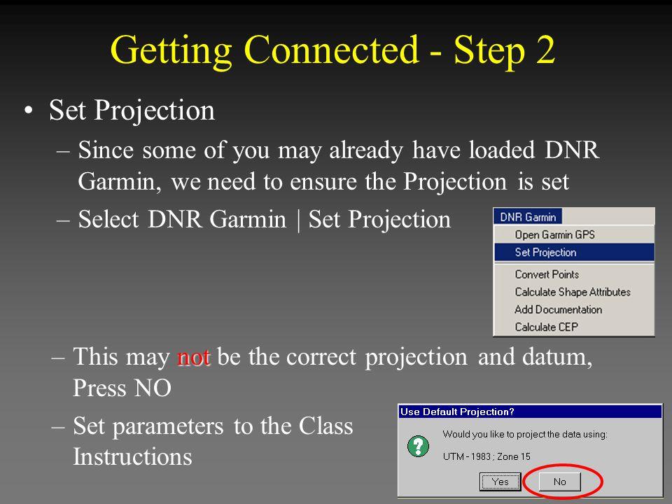 Edit Point Shapefile Convert Points window pops open In the DNR Garmin drop down menu choose: DNR Garmin | Convert Points Selected Selected Points in Yellow in Yellow