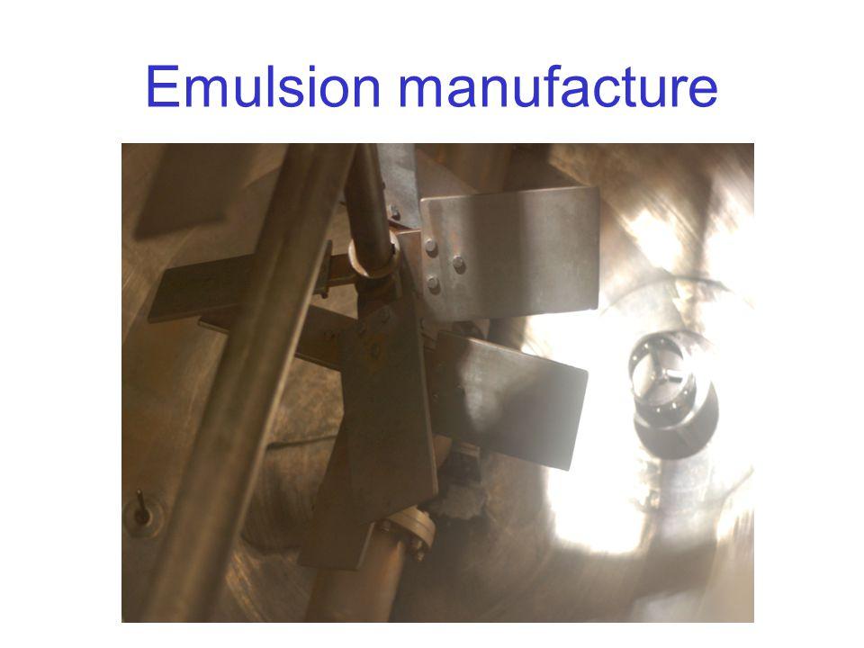 Emulsion manufacture