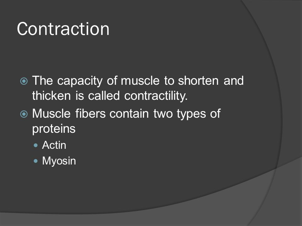 Role of Calcium  Necessary for muscle contraction.