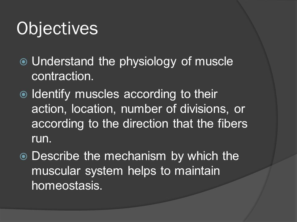 Objectives  Describe common diseases, disorders, and conditions of the muscular system including signs and symptoms, diagnosis, and available treatment options.