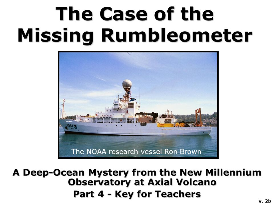 Several months ago, thousands of small earthquakes were detected at Axial Seamount, an active submarine volcano.