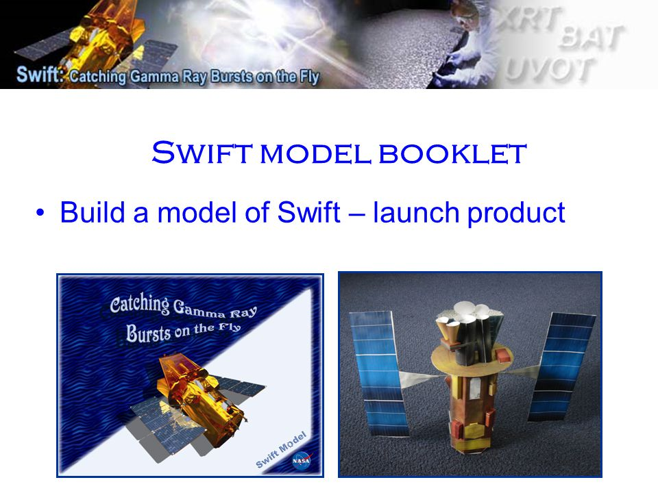 Swift model booklet Build a model of Swift – launch product