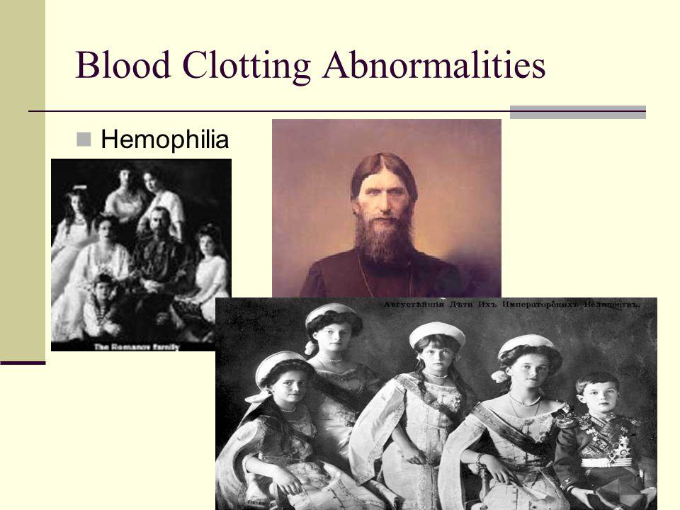 Blood Clotting Abnormalities Hemophilia