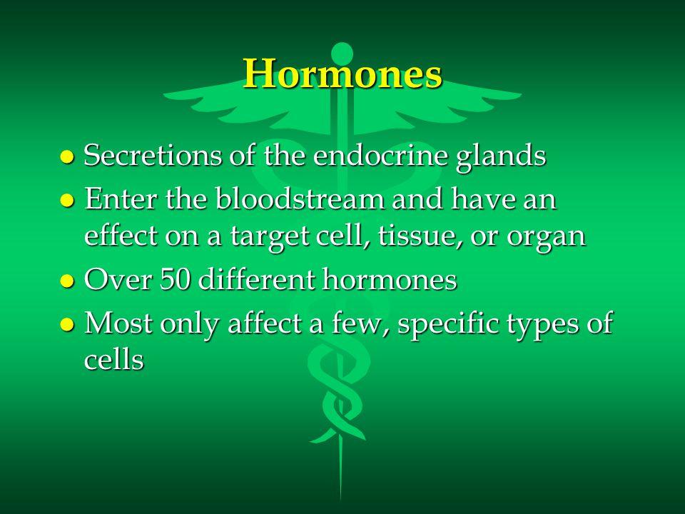 Endocrine Glands and The Hormones They Secrete