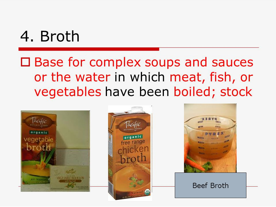 Cream soups  are cooked vegetables pureed in a blender using flour and milk or cream.