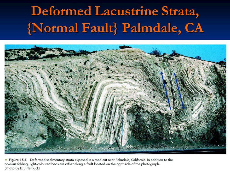 Deformed Lacustrine Strata, {Normal Fault} Palmdale, CA