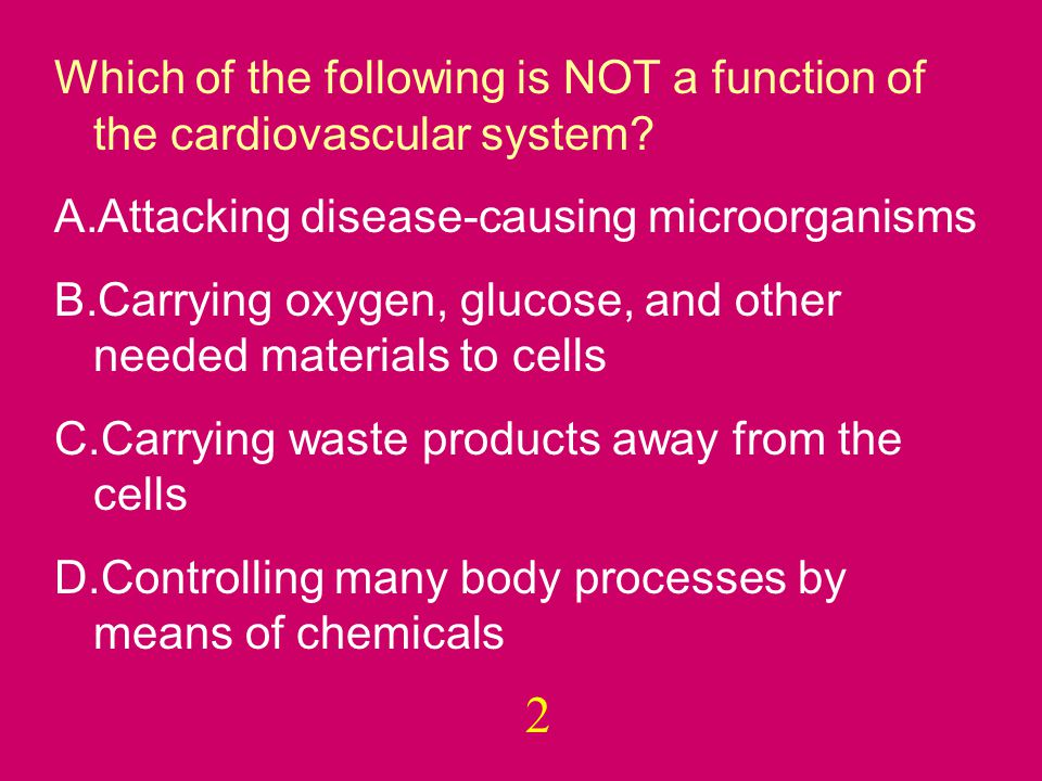 Which of the following is NOT a function of the cardiovascular system.