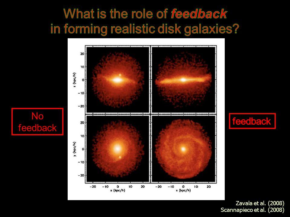 No feedback Zavala et al. (2008) Scannapieco et al. (2008)