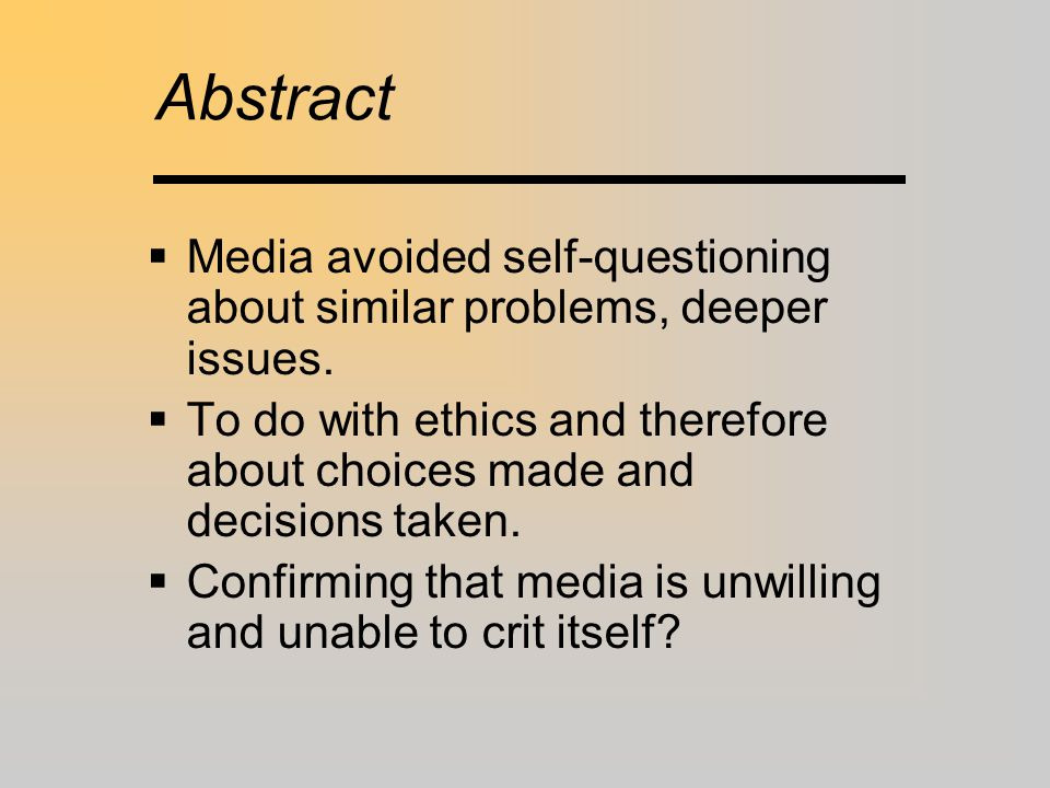 Other factors …  Mona – simply competitive?  His colleagues favoured publication