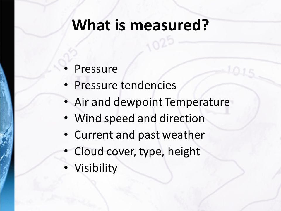 What is measured.