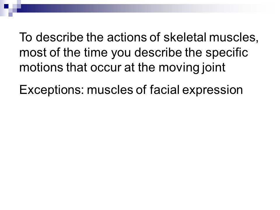 The size of the motor unit determines how fine the control of movement can be –  small motor units  precise control (e.g.