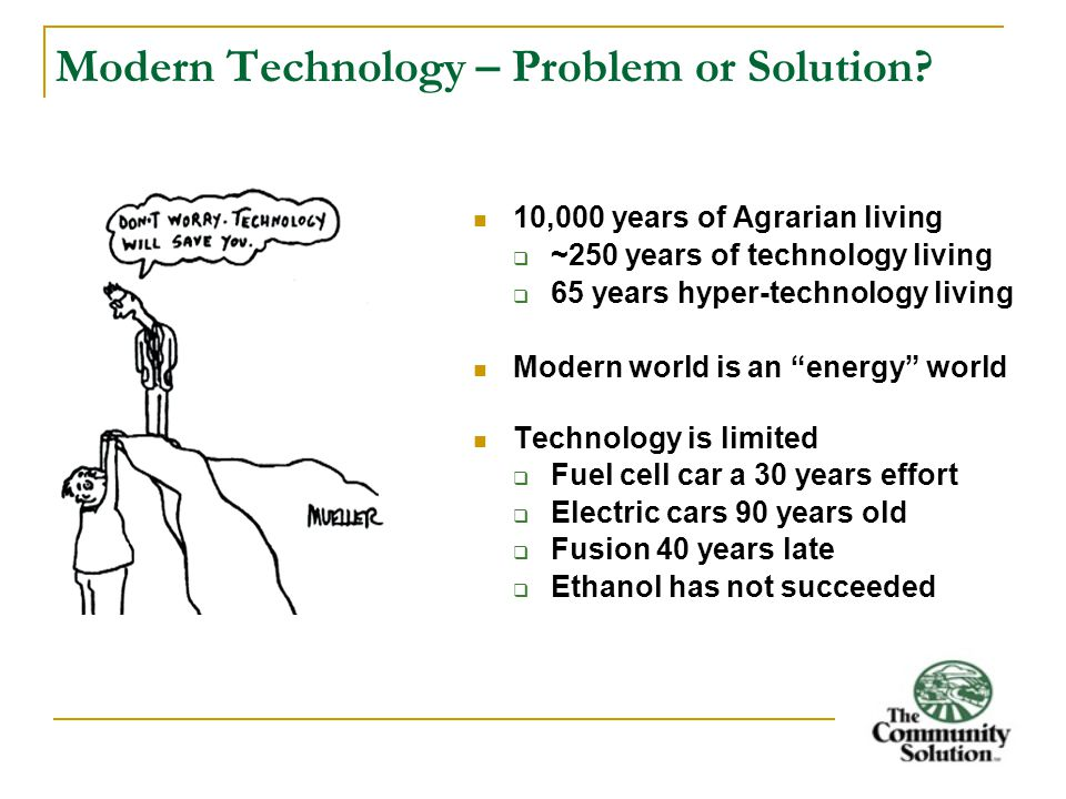 Modern Technology – Problem or Solution.