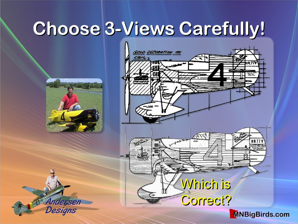 Choose 3-Views Carefully! Which is Correct?