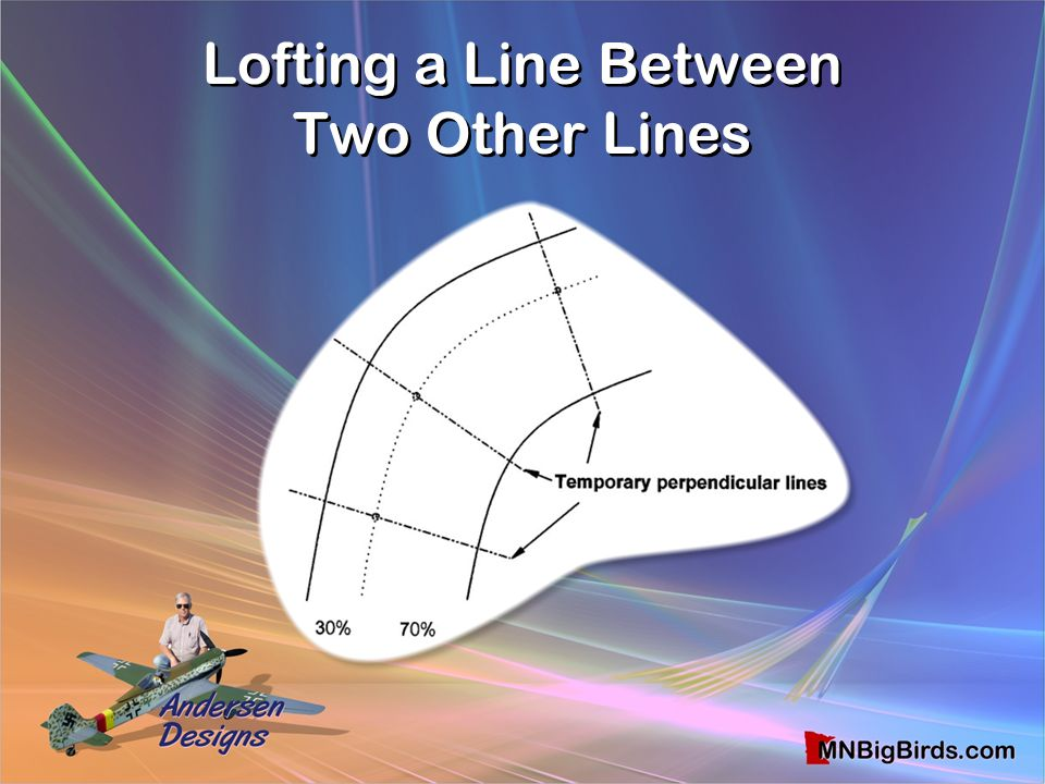 Lofting a Line Between Two Other Lines