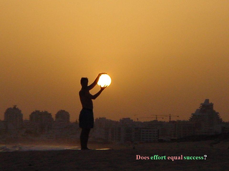Does effort equal success