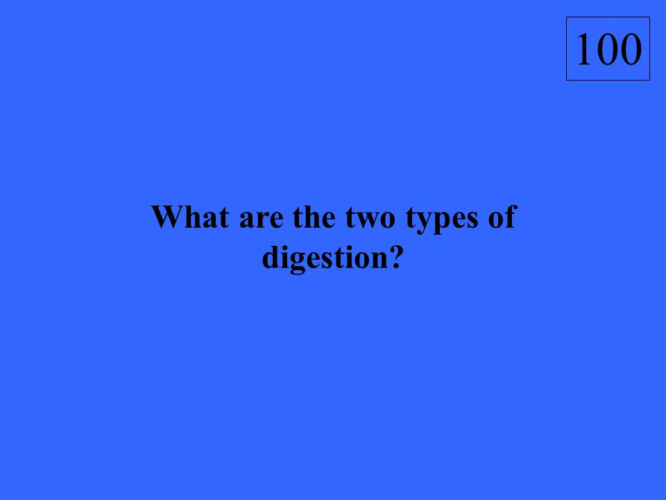 What are the two types of digestion 100