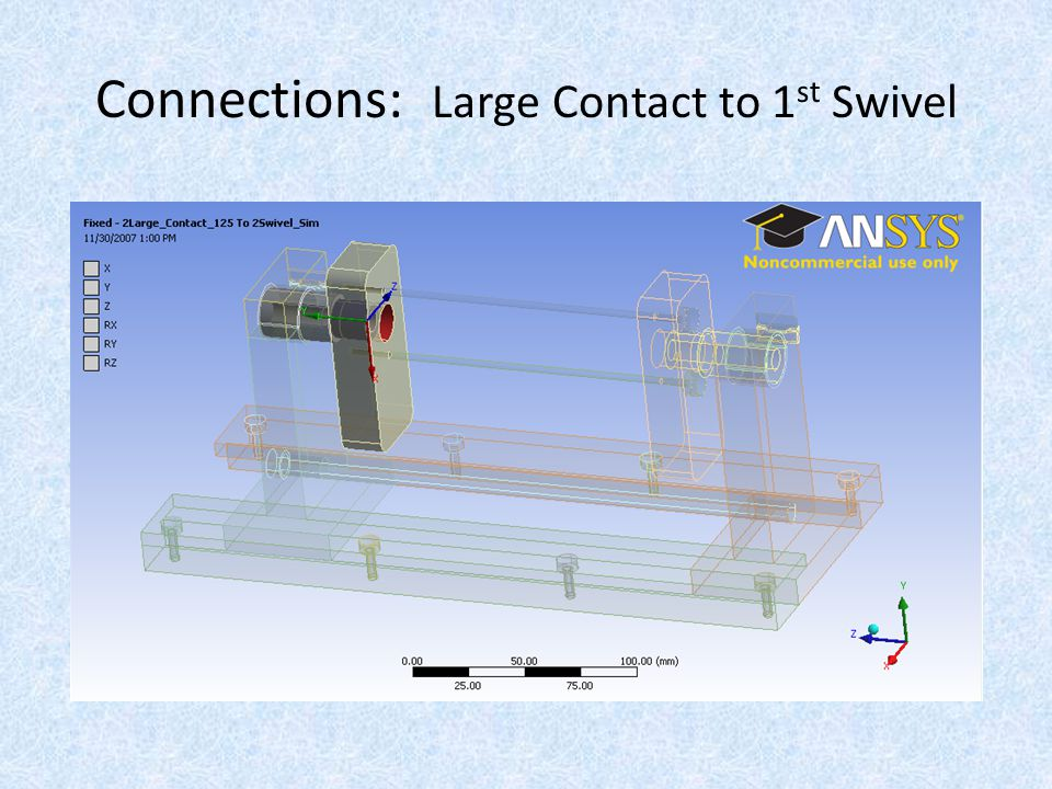 Connections: Large Contact to 1 st Swivel