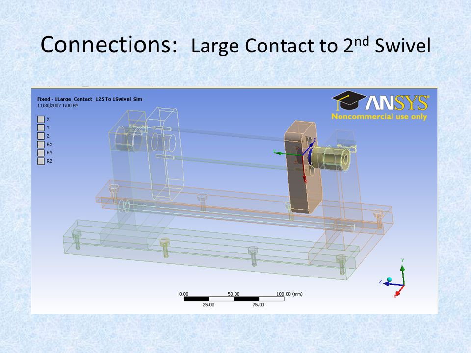 Connections: Large Contact to 2 nd Swivel
