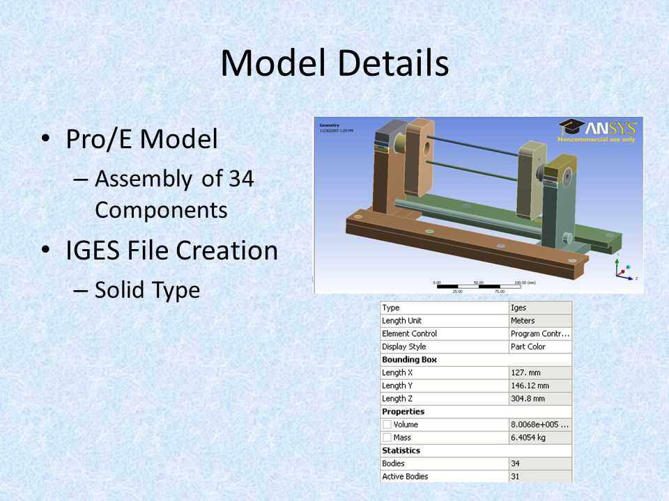FEA Tool: ANSYS Workbench Why.