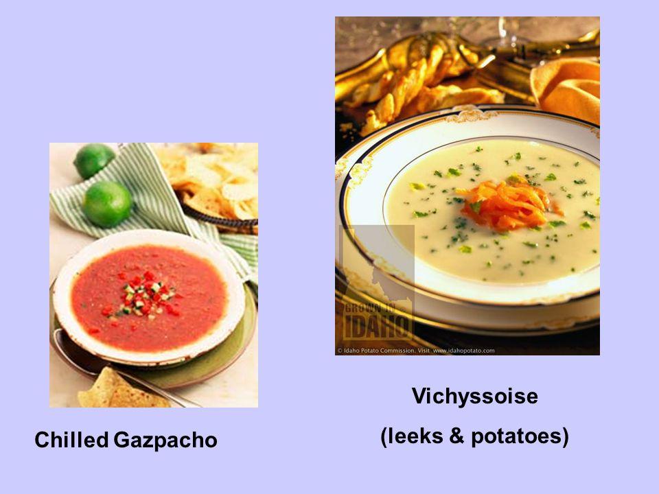 Chilled Gazpacho Vichyssoise (leeks & potatoes)