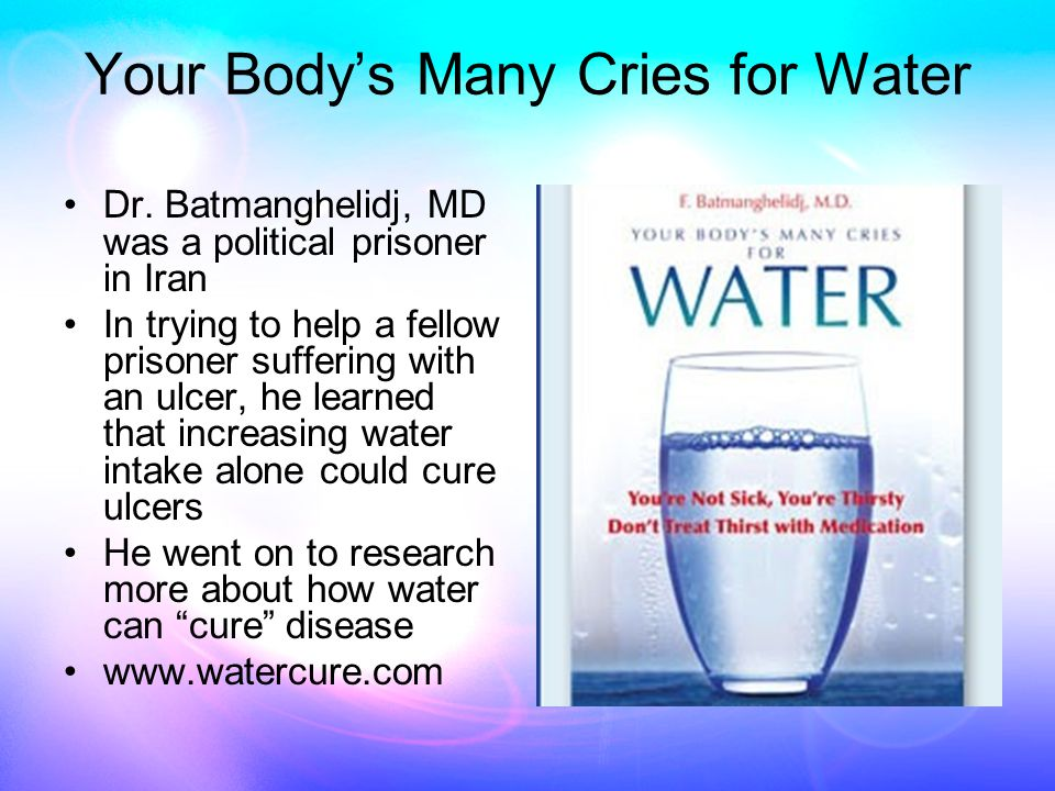 Diabetes When the pancreas is short on water it uses a prostaglandin (PGE-2) to call for more water This reduces insulin production and water absorption in the cells If this is insufficent, it covers insulin with a molecule called xanthurenic acid which makes it ineffective Thus, dehydration contributes to Type II (insulin- resistant) diabetes