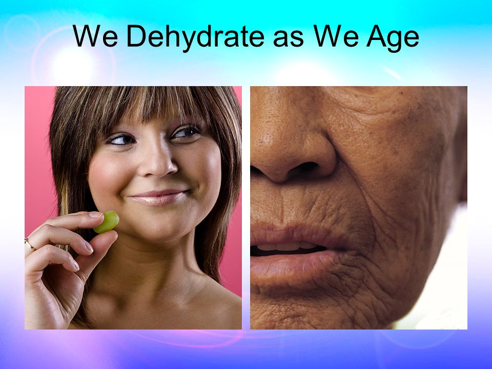 Water and Thirst Thirst is not an adequate indicator of dehydration –People confuse thirst with hunger –People try to satisfy thirst with beverages that deplete the body of water Caffeinated beverages Alcohol Artificial sweetened drinks In dehydration –66% of water loss is from inside cells –26% is from extracellular fluids (lymph) –Only 8% from blood –Thirst is regulated by blood levels of water