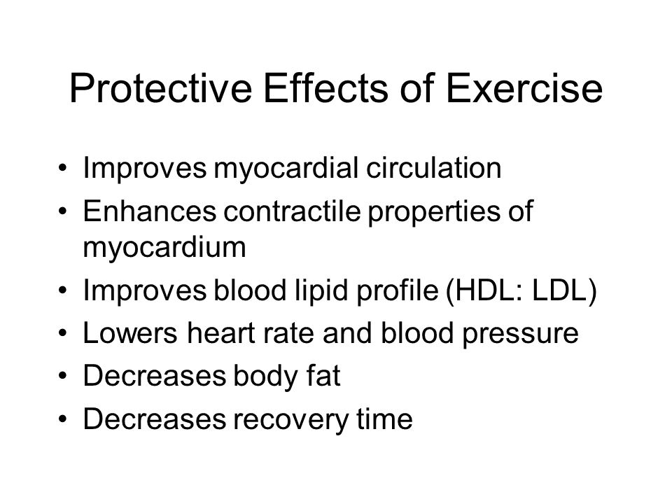 Principles of Exercise Testing Provides baseline data against which later assessments can be measured.