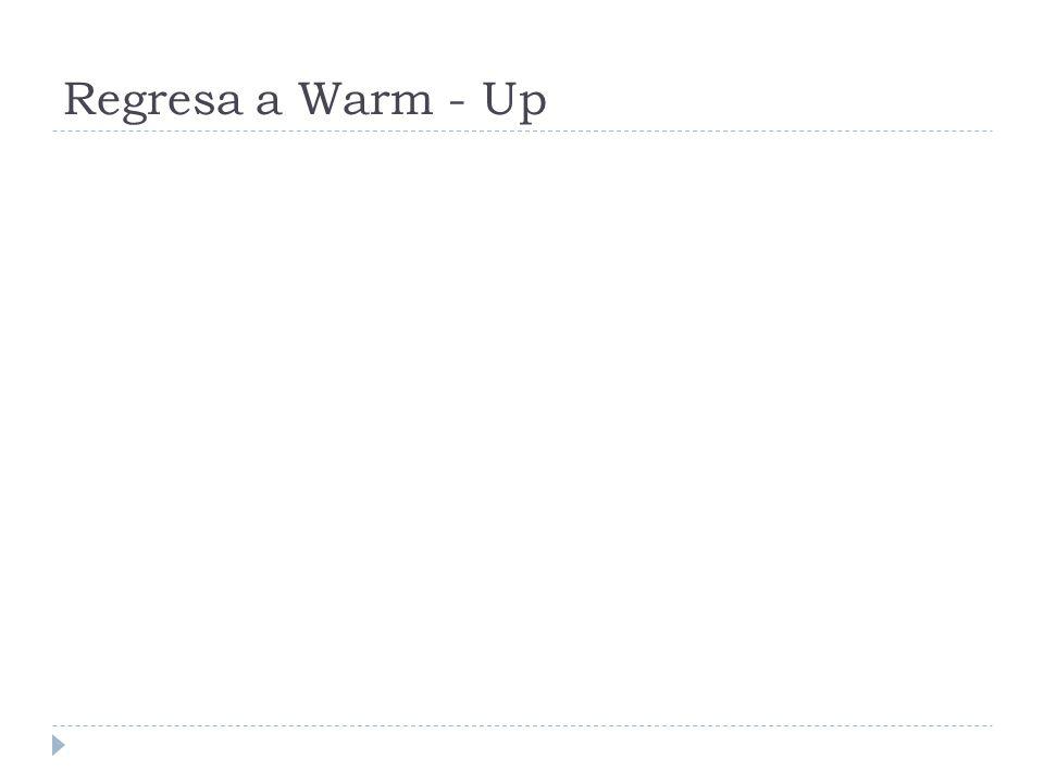 Regresa a Warm - Up