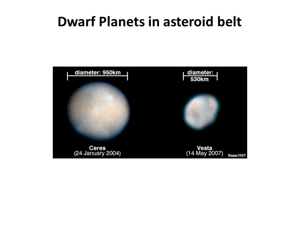 Dwarf Planets in asteroid belt
