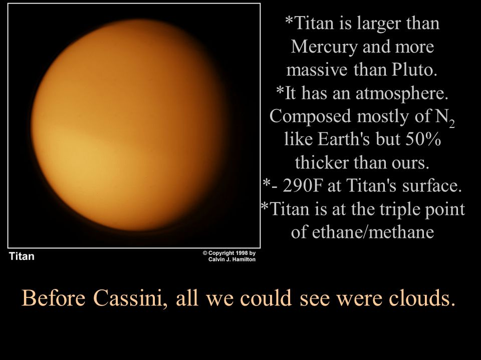 *Titan is larger than Mercury and more massive than Pluto.