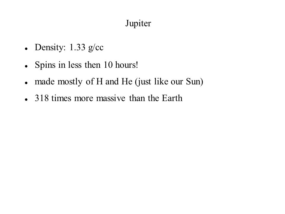 Density: 1.33 g/cc Spins in less then 10 hours.