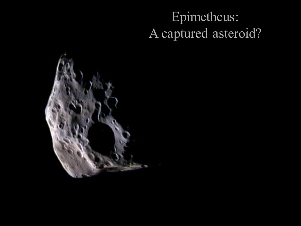 Epimetheus: A captured asteroid