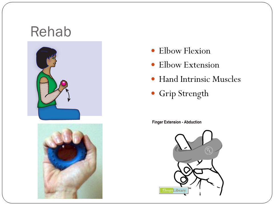 Rehab Elbow Flexion Elbow Extension Hand Intrinsic Muscles Grip Strength