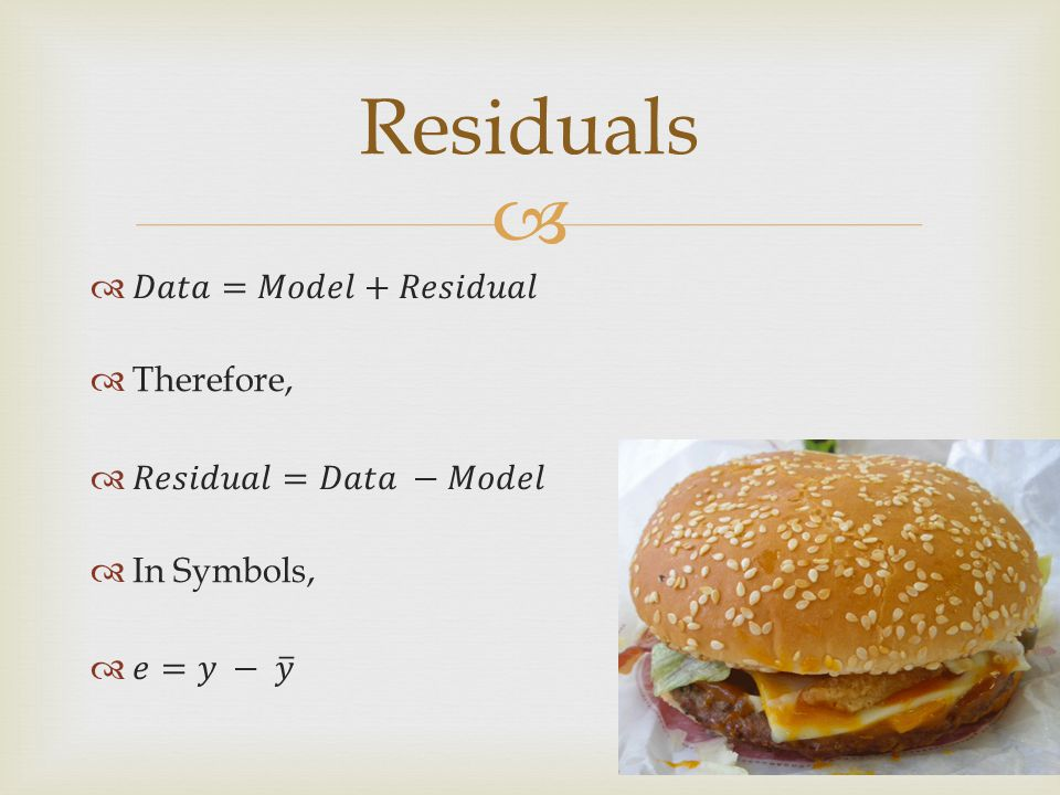  Residuals