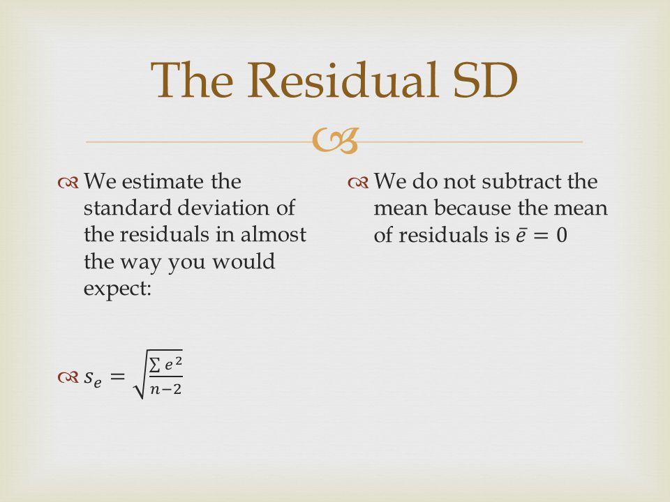  The Residual SD