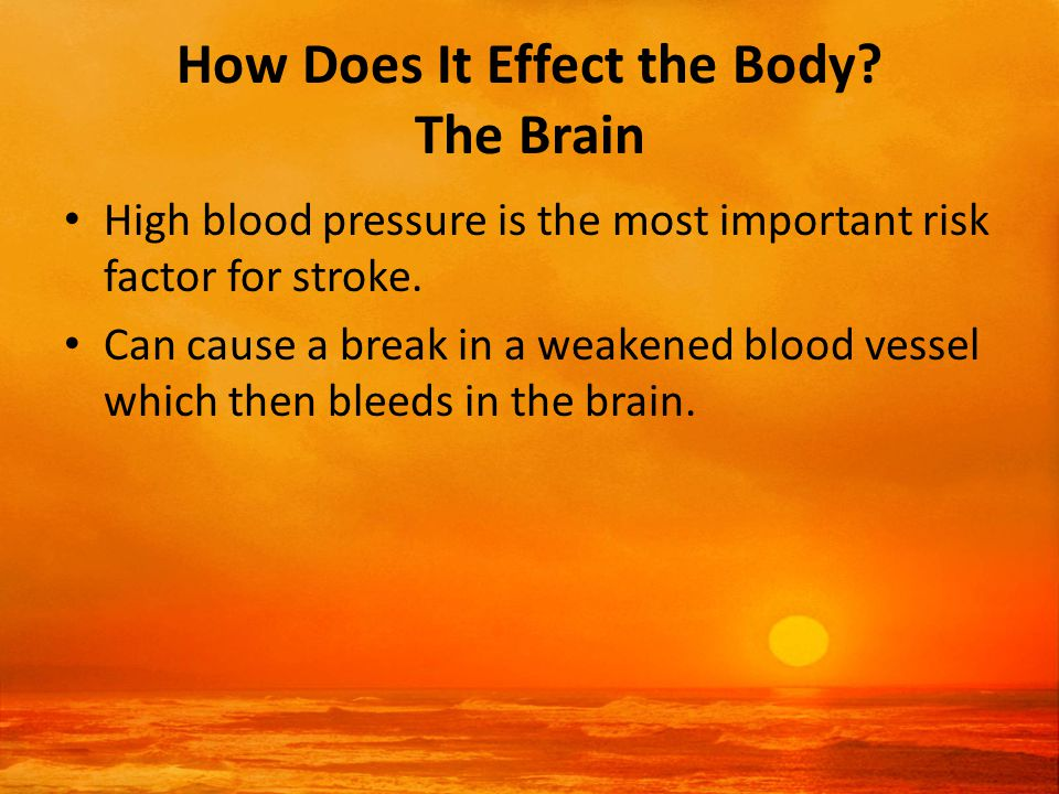 How Does It Effect the Body.
