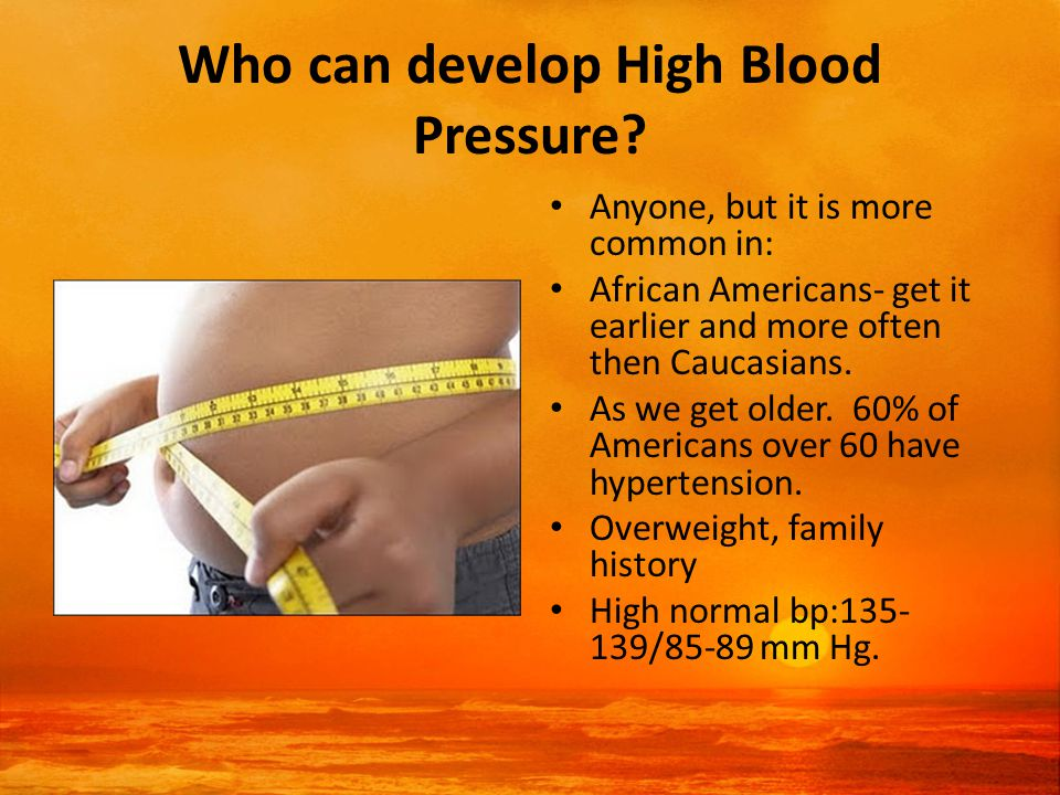 Who can develop High Blood Pressure.