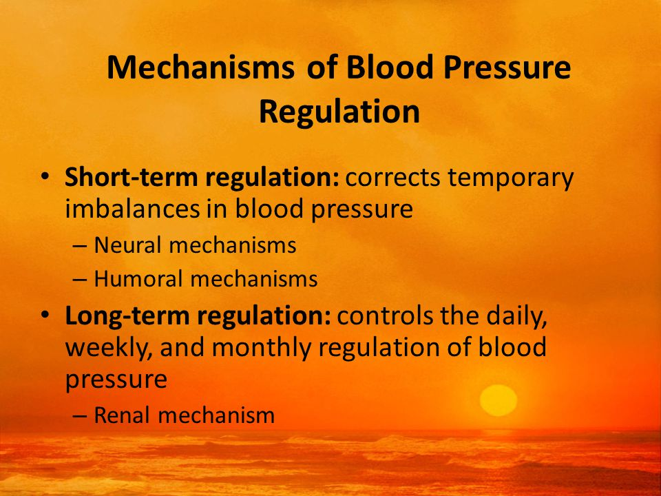 Factors Determining Systolic and Diastolic Blood Pressure Systolic pressure – The characteristics of the stroke volume being ejected from the heart – The ability of the aorta to stretch and accommodate the stroke volume Diastolic pressure – The energy stored in the aorta as its elastic fibers are stretched during systole – The resistance to the runoff of blood from the peripheral blood vessels