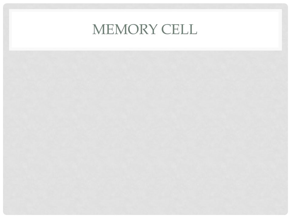 MEMORY CELL