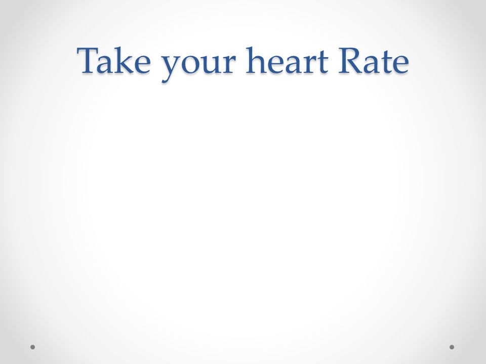 Take your heart Rate